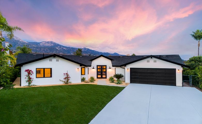 Alpine white smooth stucco ext - Pres. 50 Yr Blk/Comp Roof - New lighting, New windows & major structural work including 500 sq. ft. addition!