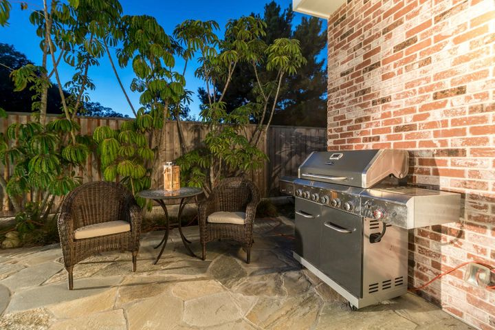 Gas Grill on the back patio