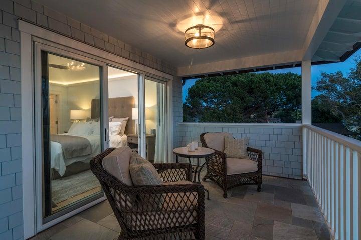Balcony off the master bedroom