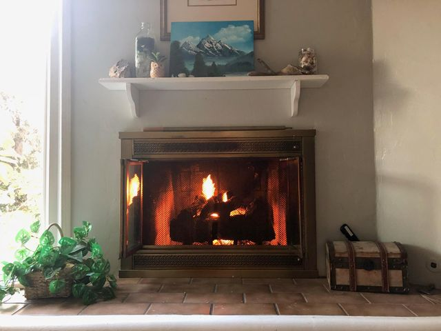 main House fireplace
