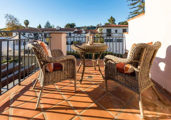 Private sun bathed terrace off Master