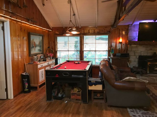 Dining area turned pool area