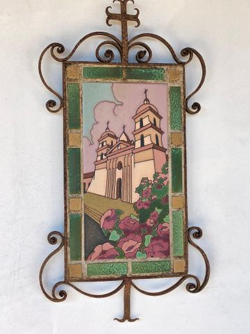 One of the many tile murals