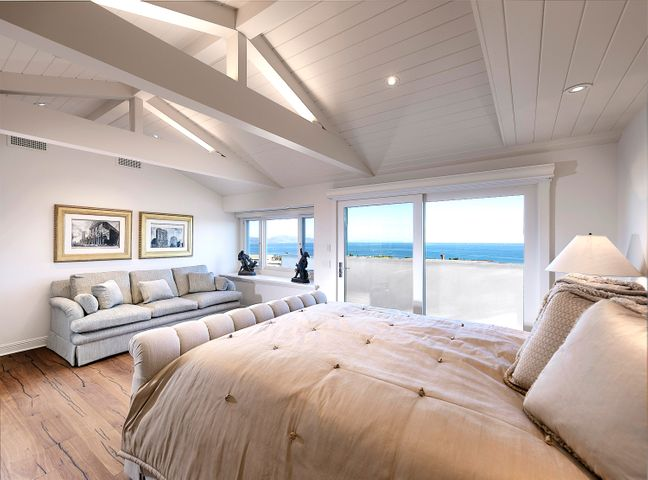 Master bedroom with views, patio