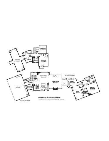 1343 N Refugio Rd Floor Plan