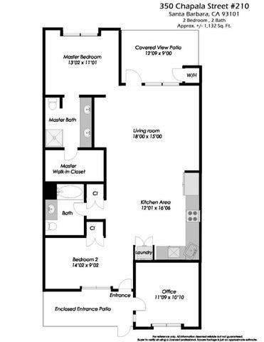350 Chapala #210 - Floor Plan