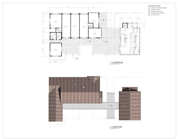El Roblar Floor and Roof Plan