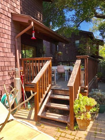 Redwood Deck in Backyard