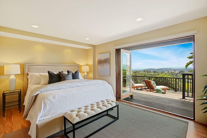 Master Bedroom w/ Views + Private Deck