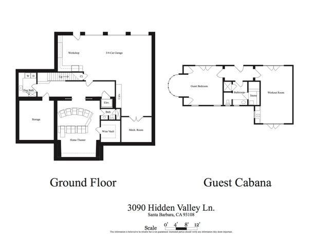 Floorplan- ground floor and guest cabana
