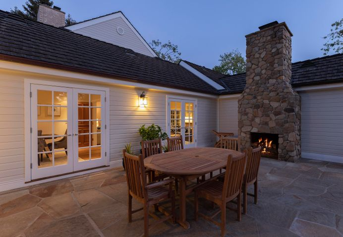 1 of 3 outdoor fireplaces