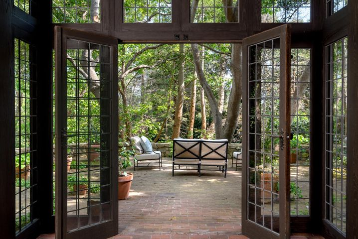 Leaded Doors to Garden Patio