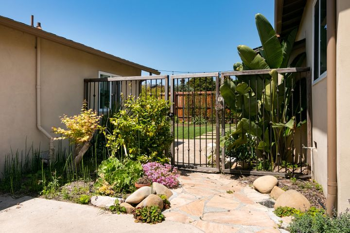 Gated rear yard