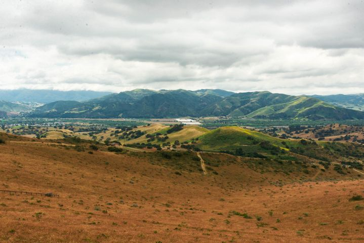 Distant Mountains & farmland