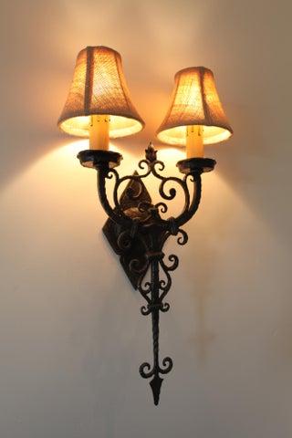 Decorative wrought iron lights