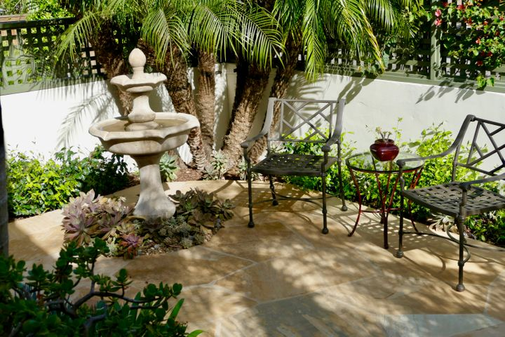 Fountain and Private Patio