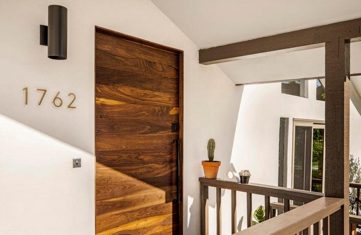 Solid Walnut Front Door