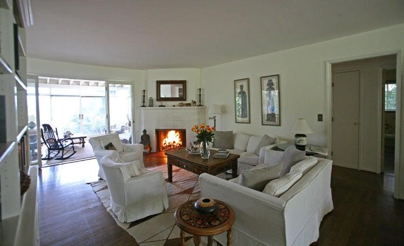 Living room with sunroom