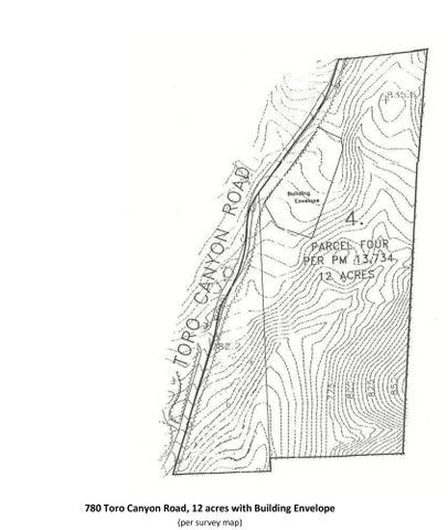 780 Toro Canyon parcel map + bldg env_