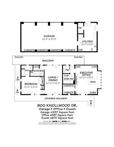 Guest house & Office Floor plan