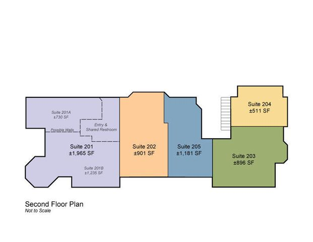 2445 AP 2nd Floor Plan with possible 201