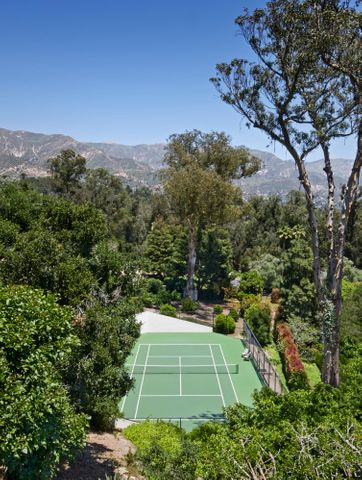 Private Tennis court with a view