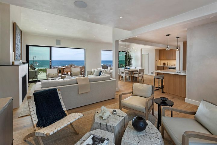 Great room with ocean & island views