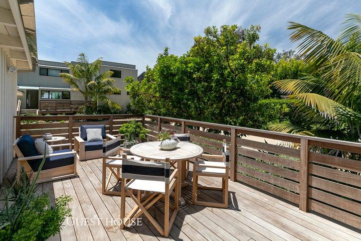 Guest house deck