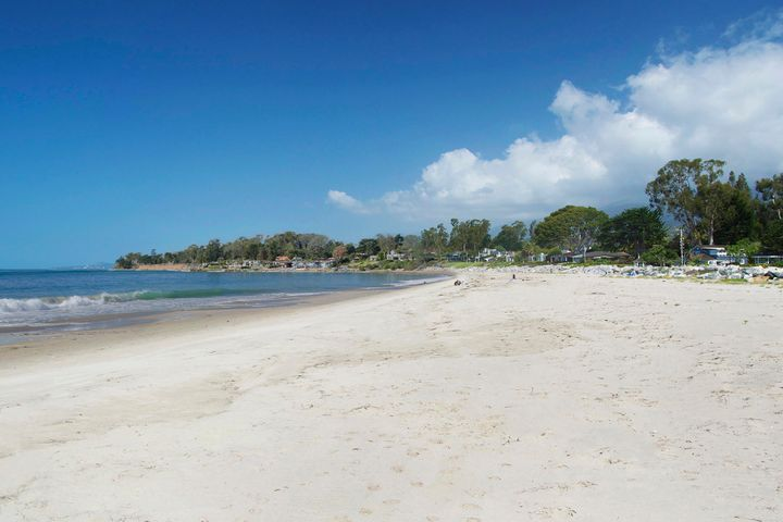 View up Padaro Lane's sandy beach