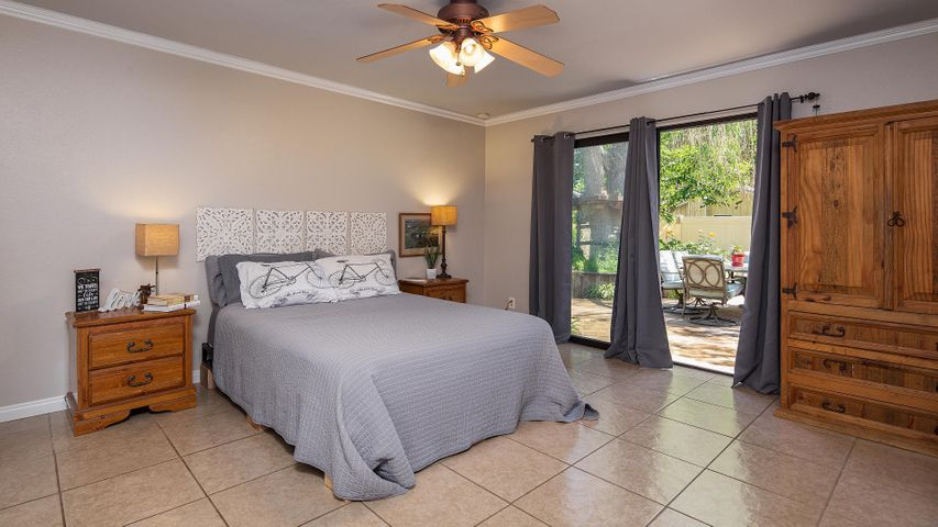Master Bedroom with Sliders to Yard