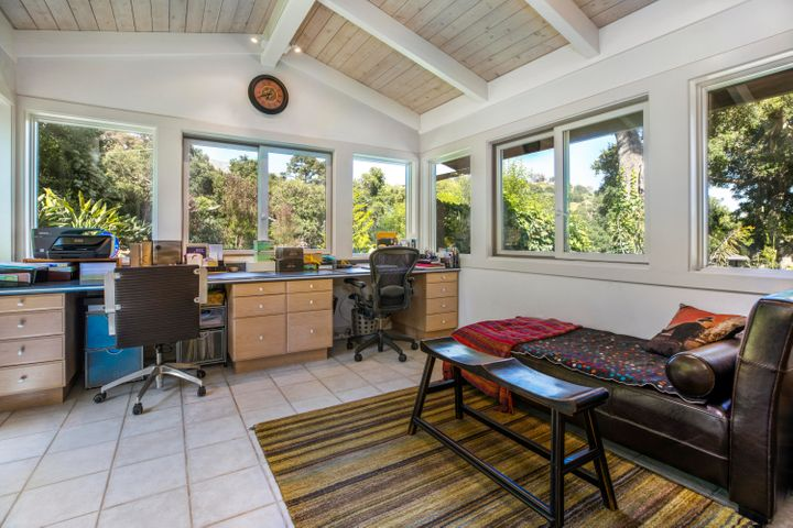 Large Home Office with doors to gardens