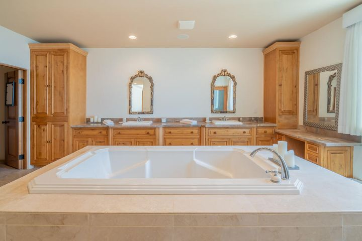 master tub and vanity