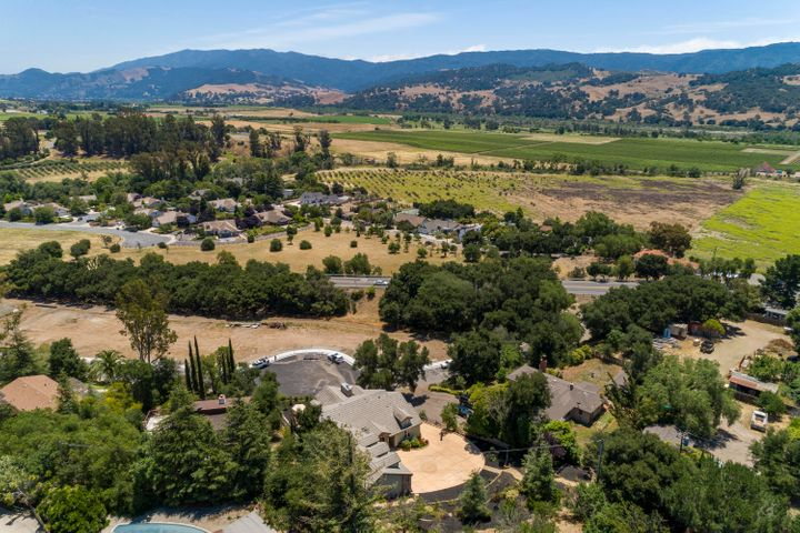 Mountain and vineyard views!