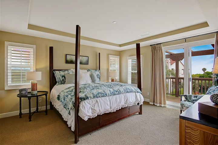 Master Bedroom w/ ocean views