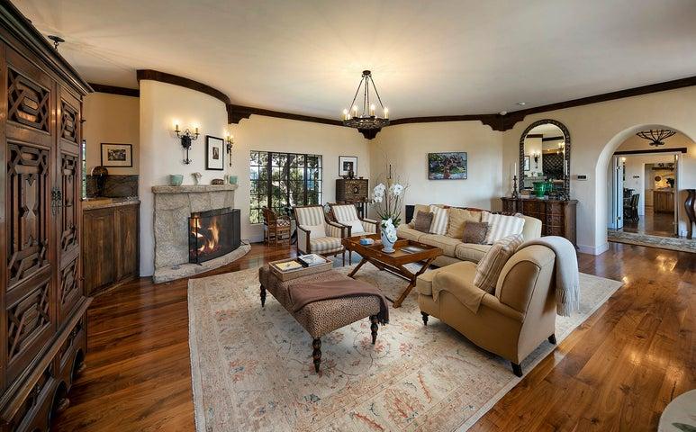 Living Room, FP & Bar