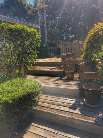 Back yard deck steps