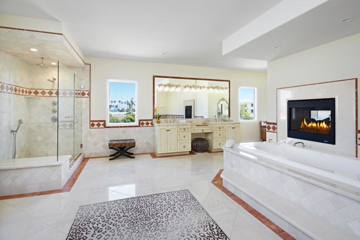 Sumptuous spa like master bath
