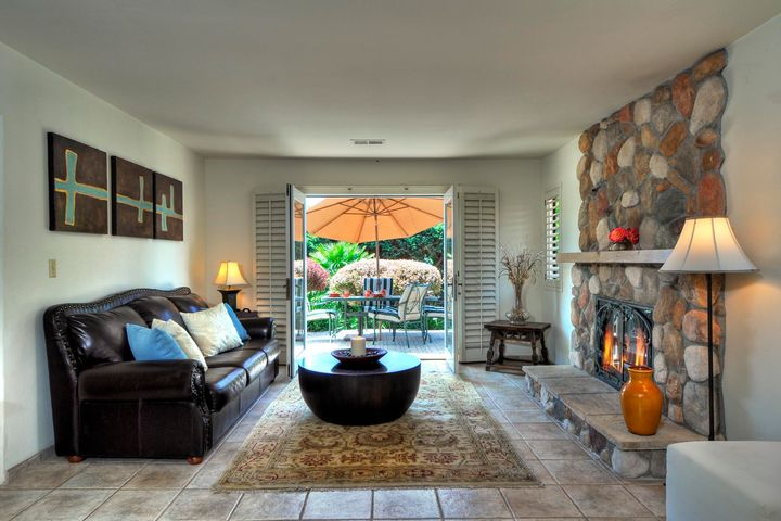 Living Room with Patio