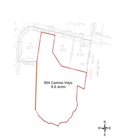 904 Camino Viejo parcel map copy