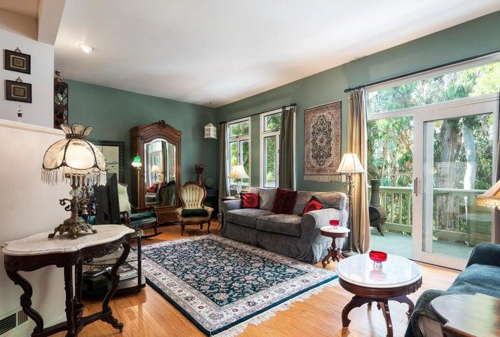 Living Room w/Eucalyptus Grove View Deck