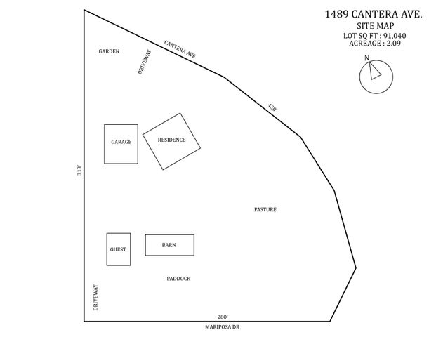 1489 Cantera Ave. Site Map