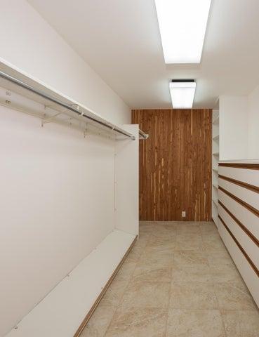 First floor master closet