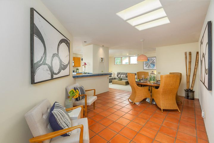 Dining room opens to kitchen