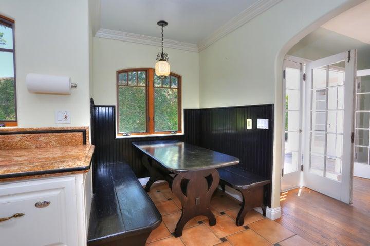 Built in dinette in kitchen