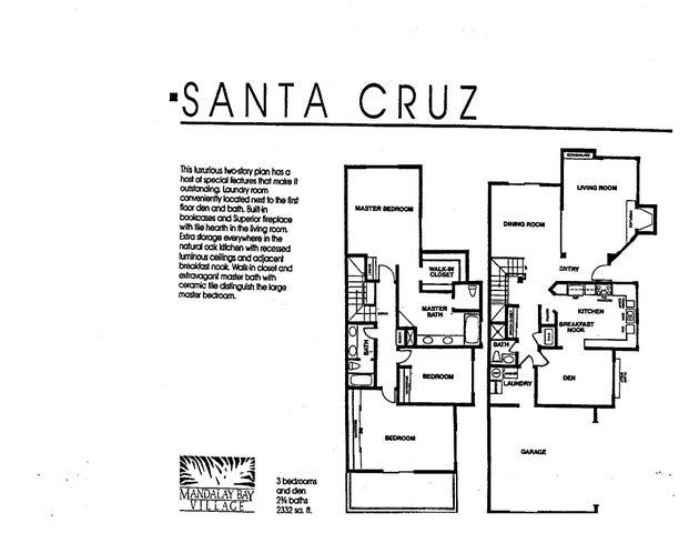 Santa Cruz Floor Plan