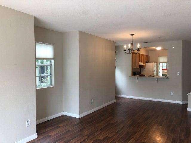 Livingroom view towards kitchen
