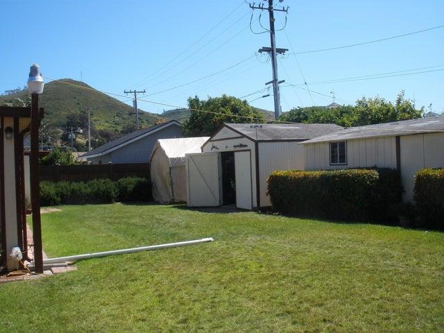 back yard/sheds