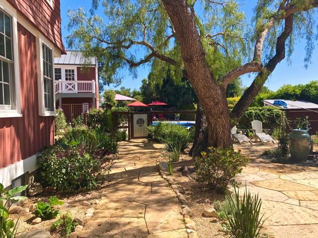 Stone patio and walkways