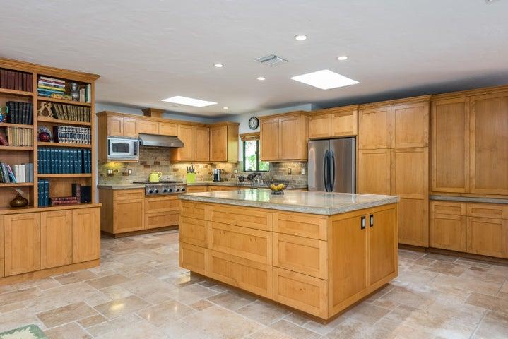 Custom Alder Cabinetry and Skylights