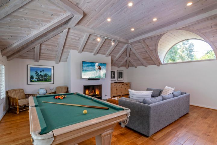 Game Room with Fireplace